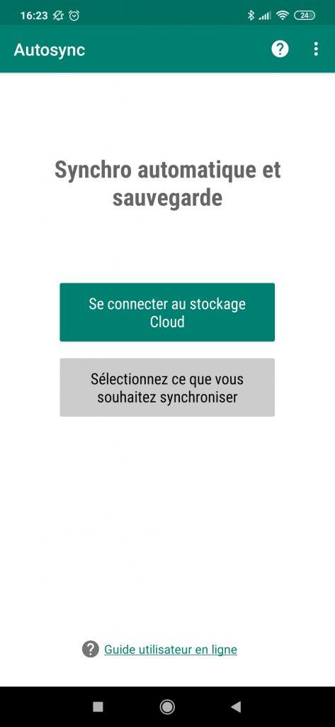 Autosync - chose cloud