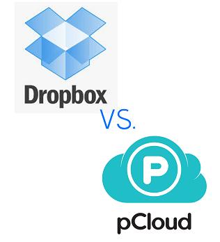 dropbox vs. pcloud