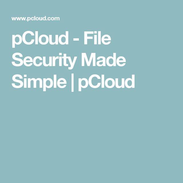 stockage en ligne sécurisé-pCloud-file-security