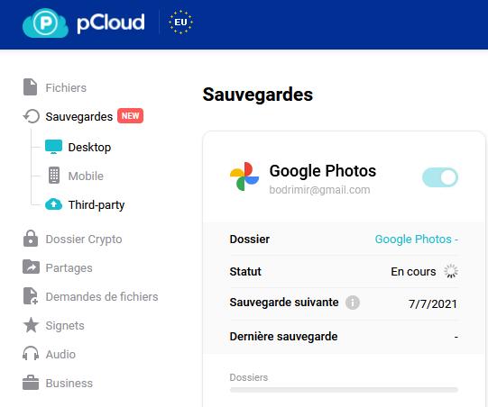 pCloud- GooglePhotos