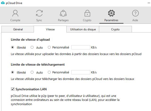 stockage-pcloud-download-speed-parameter